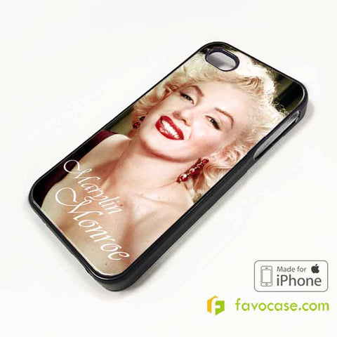 MARYLIN MONROE iPhone 4/4S 5/5S/SE 5C 6/6S 7 8 Plus X Case Cover
