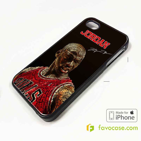 MICHAEL JORDAN 1 Chicago Bulls 23 Air iPhone 4/4S 5/5S/SE 5C 6/6S 7 8 Plus X Case Cover