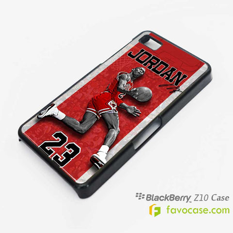 MICHAEL JORDAN 2 Chicago Bulls 23 Air Blackberry Z10 Q10 Case Cover