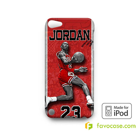 MICHAEL JORDAN 2 Chicago Bulls 23 Air  iPod Touch 4, 5 Case Cover