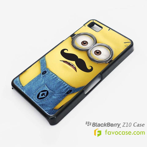 MINION MOUSTACHE Despicable Me Blackberry Z10 Q10 Case Cover