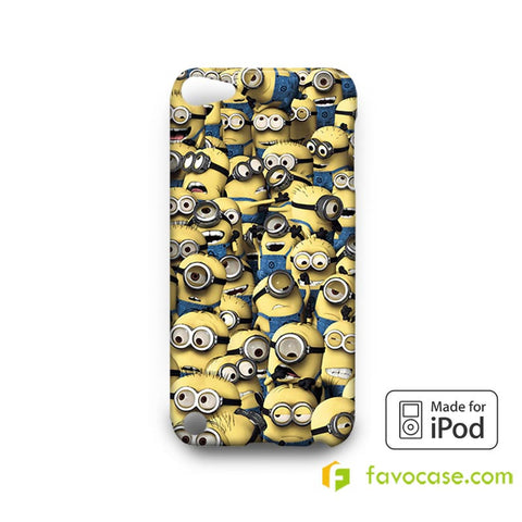 MINIONS STICKER BOMB Desicable Me  iPod Touch 4 5 6 Case