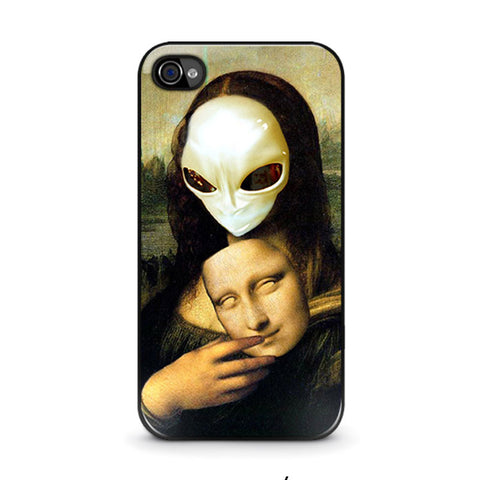 mona-lisa-alien-iphone-4-4s-case-cover