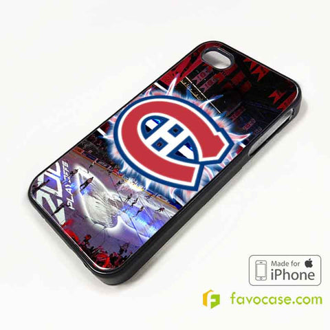 MONTREAL CANADIENS Ice Hockey Team NHL iPhone 4/4S 5/5S/SE 5C 6/6S 7 8 Plus X Case Cover