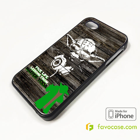 MASTER YODA STARS WARS iPhone 4/4S 5/5S/SE 5C 6/6S 7 8 Plus X Case Cover