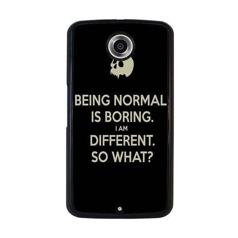 NORMAL-IS-BORING-QUOTES-nexus-6-case-cover