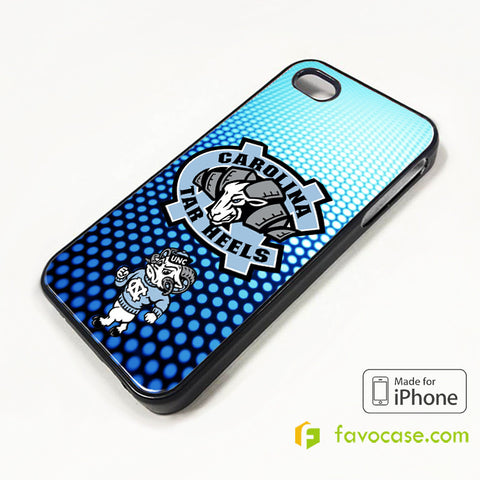 NORTH CAROLINA TAR HEELS COLLEGE iPhone 4/4S 5/5S/SE 5C 6/6S 7 8 Plus X Case Cover