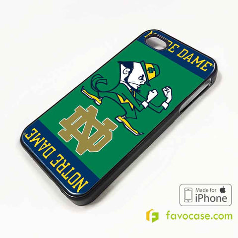 NOTRE DAME FIGHTING Football Team NFL iPhone 4/4S 5/5S/SE 5C 6/6S 7 8 Plus X Case Cover
