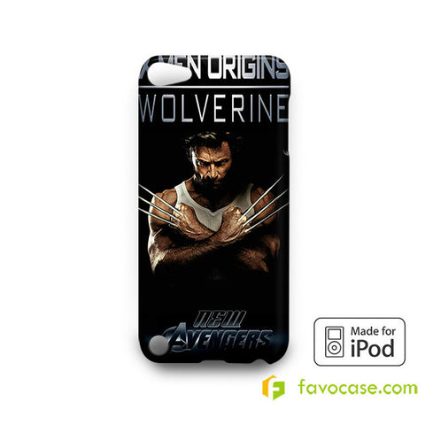 NEW WOLVERINE MARVEL  iPod Touch 4 5 6 Case