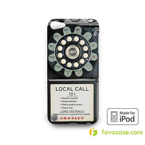 OLD PAYPHONE RETRO  iPod Touch 4 5 6 Case