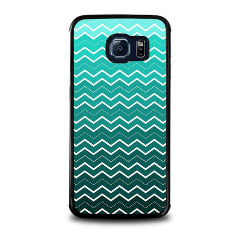 OMBRE-TEAL-CHEVRON-Pattern-samsung-galaxy-s6-edge-case-cover