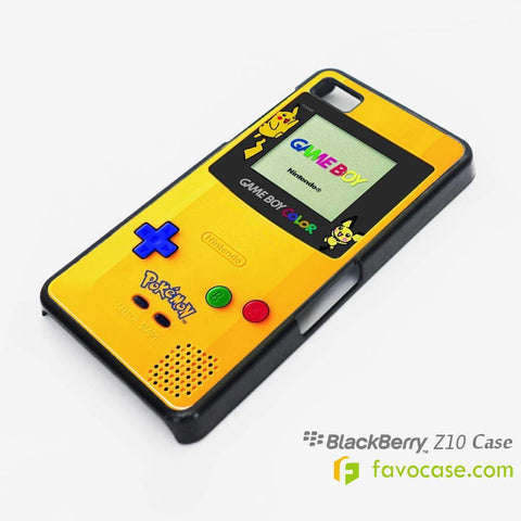 POKEMON GAME BOY Pocket Monsters Pikachu Blackberry Z10 Q10 Case Cover