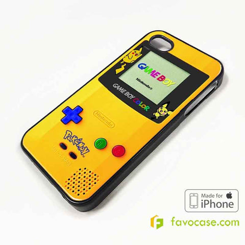 POKEMON GAME BOY Pocket Monsters Pikachu iPhone 4/4S 5/5S/SE 5C 6/6S 7 8 Plus X Case Cover