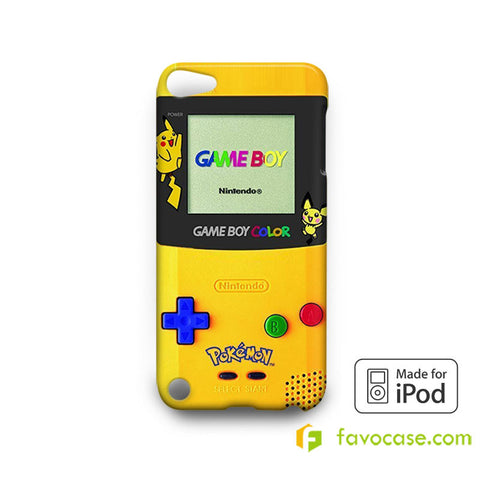 POKEMON GAME BOY Pocket Monsters Pikachu  iPod Touch 4 5 6 Case