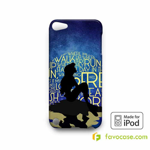 PART OF YOUR WORLD ARIEL THE LITTLE MERMAID  iPod Touch 4 5 6 Case