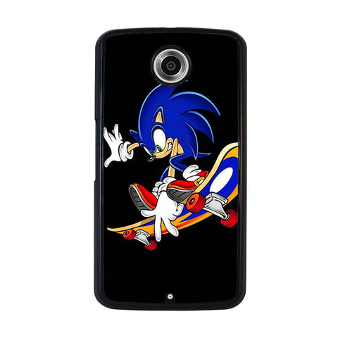 SONIC-THE-HEDGEHOG-SKATEBOARD-nexus-6-case-cover
