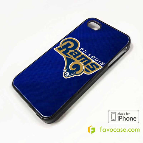 ST. LOUIS RAMS iPhone 4/4S 5/5S/SE 5C 6/6S 7 8 Plus X Case Cover