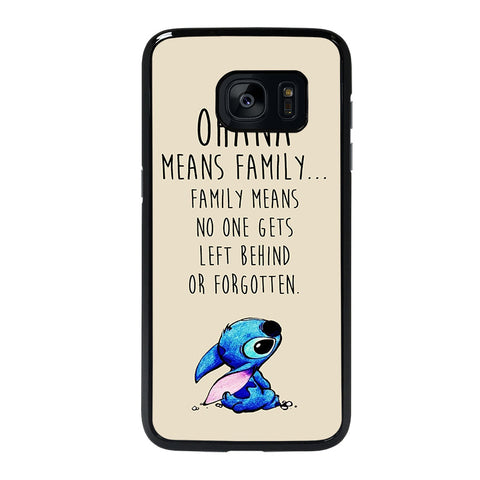 STITCH LILLO OHANA FAMILY QUOTES-samsung-galaxy-S7-edge-case-cover