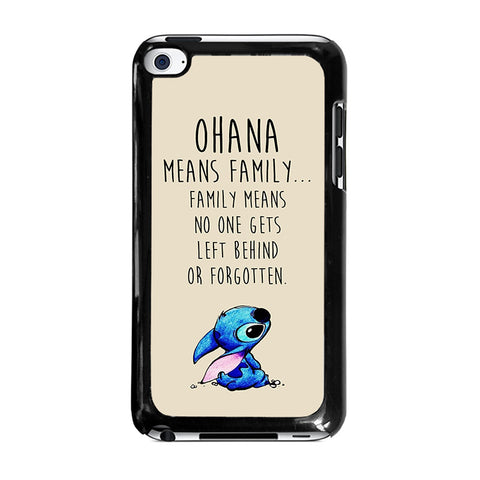 STITCH LILLO OHANA FAMILY QUOTES-ipod-touch-4-case-cover