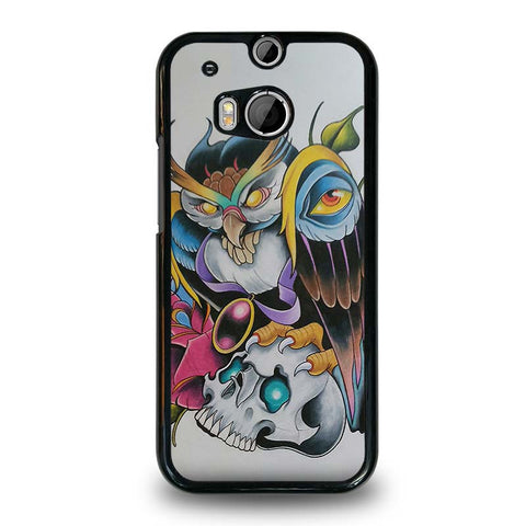 SUGAR-SCHOOL-OWL-TATTOO-HTC-One-M8-Case-Cover