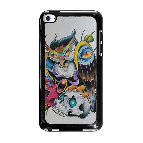SUGAR-SCHOOL-OWL-TATTOO-ipod-touch-4-case-cover