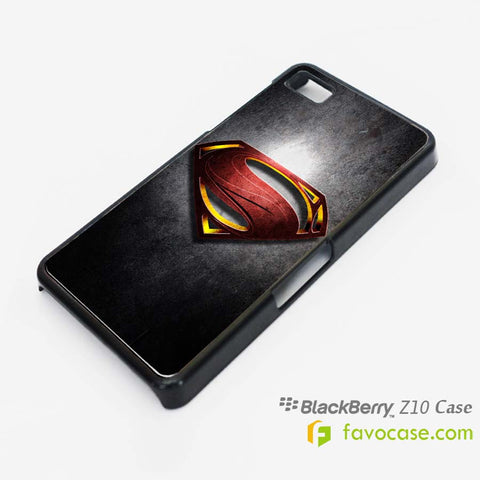 SUPERMAN 1 Man of Steel Blackberry Z10 Q10 Case Cover