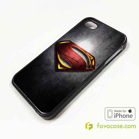SUPERMAN 1 Man of Steel iPhone 4/4S 5/5S/SE 5C 6/6S 7 8 Plus X Case Cover