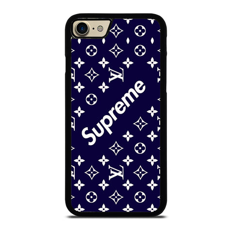 SUPREME NAVY PATTREN-iphone-7-case-cover