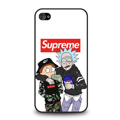 SUPREME RICK AND MORTY-iphone-4-4s-case-cover