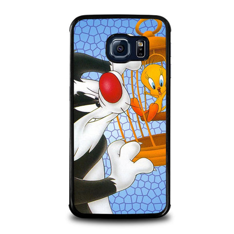 SYLVESTER-AND-TWEETY-Looney-Tunes-samsung-galaxy-s6-edge-case-cover