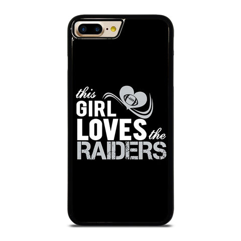 THIS GIRL LOVES THE RAIDERS 2 iPhone 4/4S 5/5S/SE 5C 6/6S 7 8 Plus X Case - Best Custom Phone Cover Design