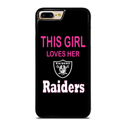 THIS GIRL LOVES THE RAIDERS iPhone 4/4S 5/5S/SE 5C 6/6S 7 8 Plus X Case - Best Custom Phone Cover Design