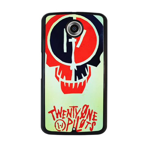 TWENTY-ONE-PILOTS-SKULL-nexus-6-case-cover