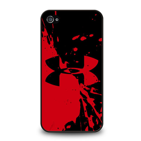 UNDER ARMOUR LOGO RED BLACK-iphone-4-4s-case-cover