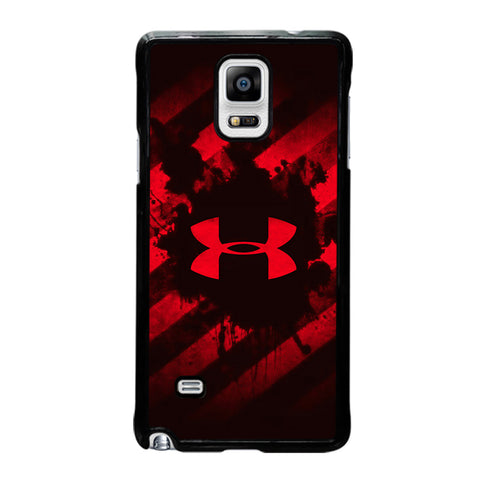 UNDER ARMOUR RED STRIPE LOGO-samsung-galaxy-note-4-case-cover