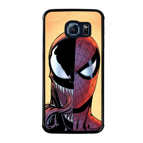 VENOM VS SPIDERMAN FACE-samsung-galaxy-S6-edge-case-cover