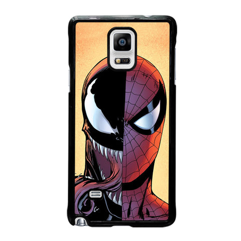 VENOM VS SPIDERMAN FACE-samsung-galaxy-note-4-case-cover