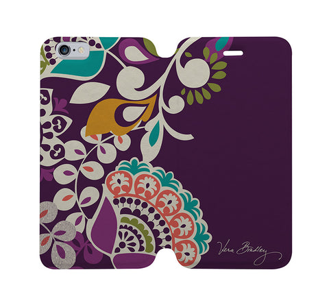 VERA BRADLEY PLUM CRAZY-iphone-4-4s-5-5s-5c-6-6s-plus-samsung-galaxy-s4-s5-s6-edge-note-3-4-5