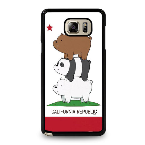 WE-BARE-BEARS-CALIFORNIA-REPUBLIC-samsung-galaxy-note-5-case-cover