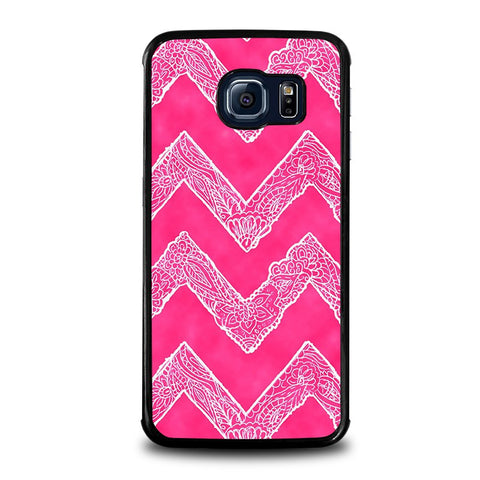 WHITE-FLORAL-PAISLEY-CHEVRON-Pattern-samsung-galaxy-s6-edge-case-cover