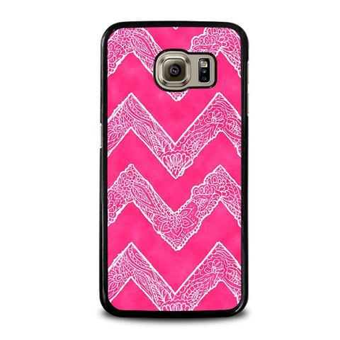WHITE-FLORAL-PAISLEY-CHEVRON-Pattern-samsung-galaxy-s6-case-cover