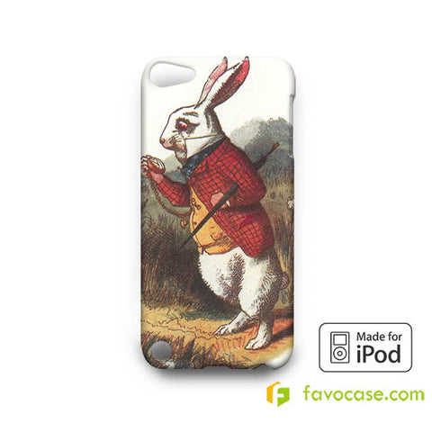 WHITE RABBIT IN ALICE IN WONDERLAND  iPod Touch 4 5 6 Case