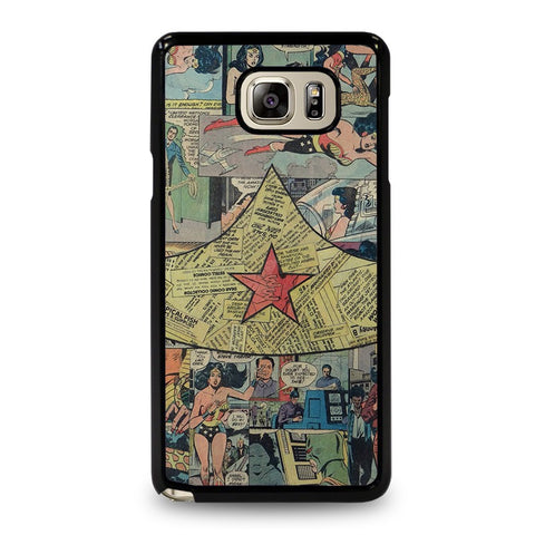 WONDER-WOMAN-COLLAGE-samsung-galaxy-note-5-case-cover
