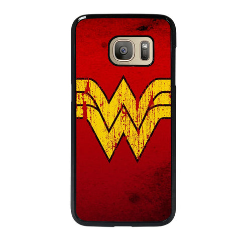 WONDER WOMAN LOGO ART-samsung-galaxy-S7-case-cover