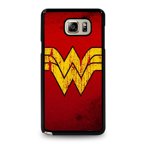 WONDER WOMAN LOGO ART-samsung-galaxy-note-5-case-cover