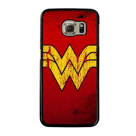 WONDER WOMAN LOGO ART-samsung-galaxy-S6-case-cover