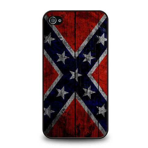 WOODEN REBEL FLAG-iphone-4-4s-case-cover