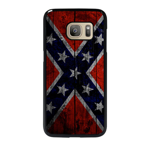 WOODEN REBEL FLAG-samsung-galaxy-S7-case-cover