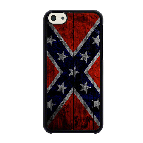 WOODEN REBEL FLAG-iphone-5c-case-cover