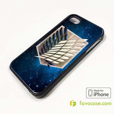 WINGS OF FREEDOM SHINGEKI NO KYOJIN ANIME iPhone 4/4S 5/5S/SE 5C 6/6S 7 8 Plus X Case Cover